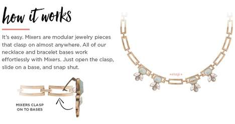 Modular Jewelry Designs - SparklePop's Mixers are a line of customized, easy to assemble jewelry