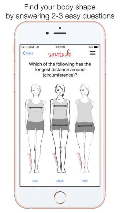 Personalized Shopping Apps - The 'Savitude' Shopping App Picks Clothes That Fit Various Body Types