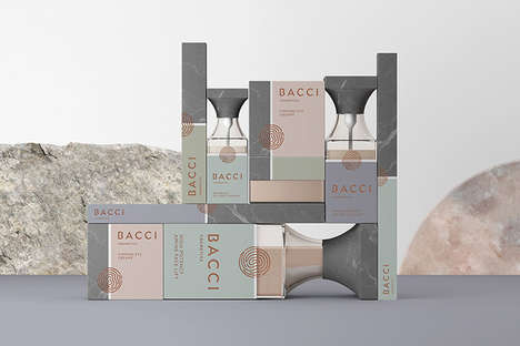 Marble Stone Cosmetic Branding - The Bacci Custom Cosmetics Packaging is Neutral Yet Feminine