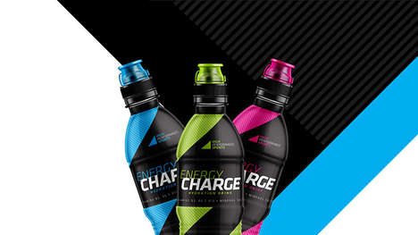 Vibrant Hydration Beverage Branding - The Energy Charge Drink Packaging is Mature in Style