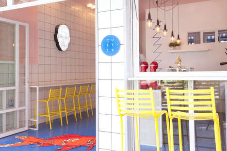 Offbeat Coffee Shops - 'coffix' is a Quirky, Colorful Cafe in Athens, Greece with Unusual Decor
