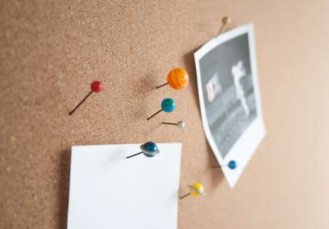 Planetary Push Pins - These Quirky Push Pins Feature Out-of-This-World Designs