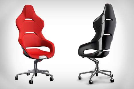 Sportscar Office Chairs - These Ferrari Office Chairs Bring Adrenaline to the Workplace