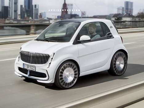 Upscale City Car Concepts - The Smart Maybach Concept Offers a Compact Luxury Driving Experience