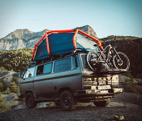 Rugged Converted Van Homes - The Adventure VW Syncro Van is Prepared Offers Comfort on the Road