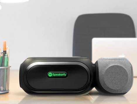 Magnetic Streaming Speakers - The 'Speakerfy' Speaker Streams Music from Spotify and More
