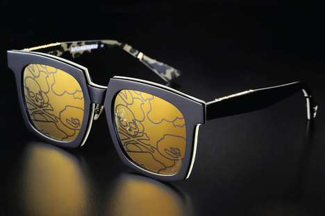 Camouflage-Emblazoned Sunglasses - BAPE and mastermind JAPAN Joined to Create a Range of Eyewear