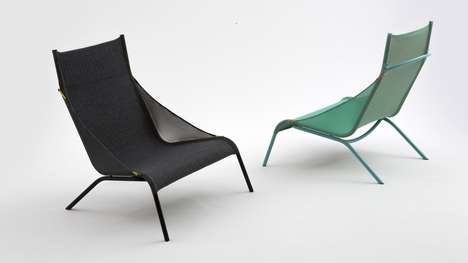 Knitted Designer Chairs - Benjamin Hubert's 'Tent Chair' is Made from a Sole Piece of Knitted Nylon