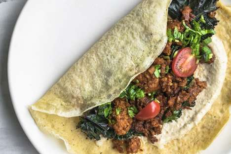Middle Eastern Chorizo Crepes - This Spicy Crepe Recipe Includes Many Different World Flavors