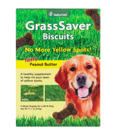 Lawn Care Dog Treats - NatureVet's GrassSaver Biscuits Prevent the Formation of Yellow Spots