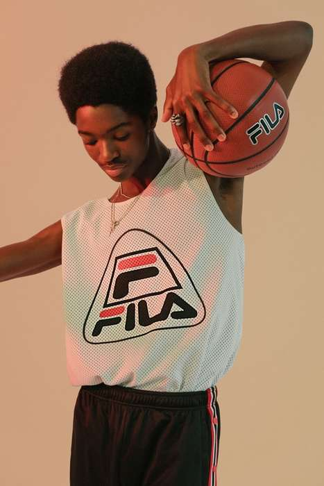 Retro Basketball-Inspired Fashion - Urban Outfitters and FILA Teamed Up for an Exclusive Collection