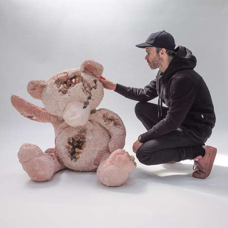 Decaying Toy Bears - Daniel Arsham Recently Presented His New 'Crystal Toys' Collection