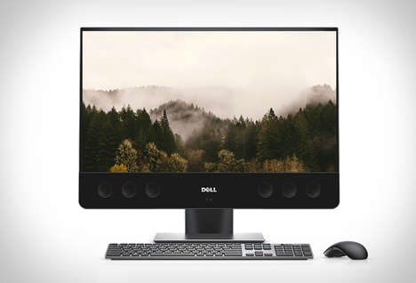 Speedy All-in-One 4K PCs - The New Dell XPS 27 Desktop Has an Integrated Sound Bar for Optimal Audio