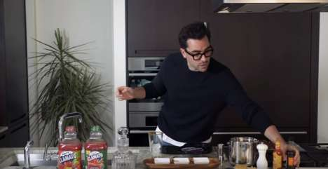 Actor-Inspired Cocktails - Mott's Clamato Held a Contest with Dan Levy for National Caesar Day