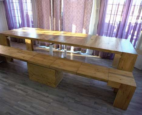 Rustic Extendable Benches