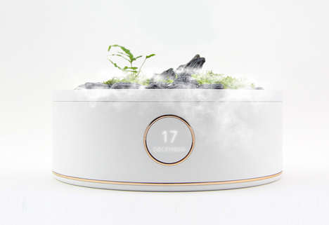 Automated Plant Care Pots - The 'Smart Mountain' Pot for Plants Monitors Soil and More