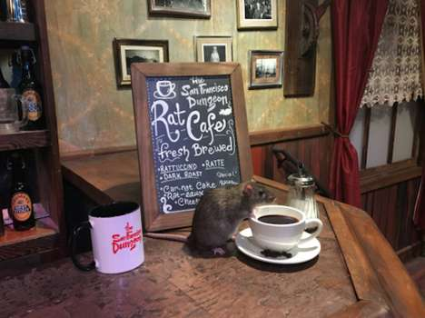 Rodent Pop-Up Cafes - Consumers Can Drink Coffee with Rodents at the Black Rat Cafe