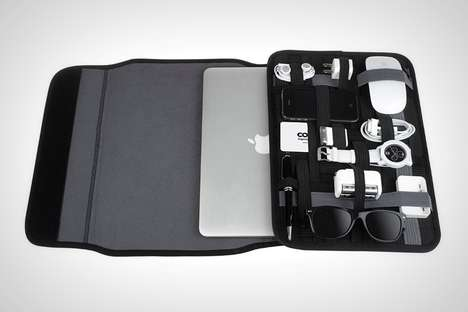Device-Organizing Laptop Cases - The Cocoon 'Grid-It' Laptop Sleeve Protector Holds Gear Separately