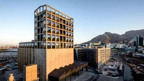 Luxury Grain Silo Hotels - Heatherwick Studio's Cape Town Hotel is a Converted Grain Silo