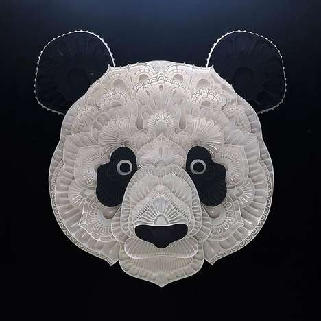 Endangered Animal Sculptures - Artist Patrick Cabral Makes Paper Animal Sculptures for Charity
