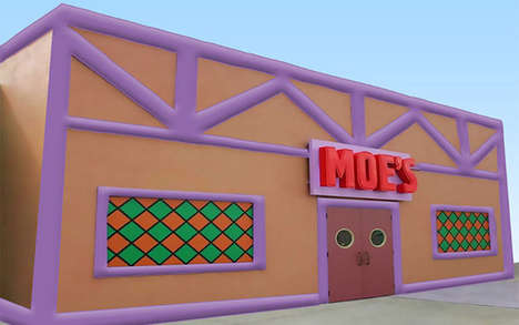 Inflatable Cartoon Bars - The Inflatable Moe's Tavern Accommodates Up to 60 Guests