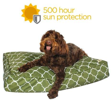 Water-Resistant Dog Beds - Molly Mutt's Outdoor Dog Beds Add Comfort and Style to Backyard Spaces