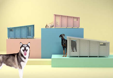 Waterproof Modern Dog Houses - Barkitecture's Flat-Pack, Lightweight Dog Houses are Customizable