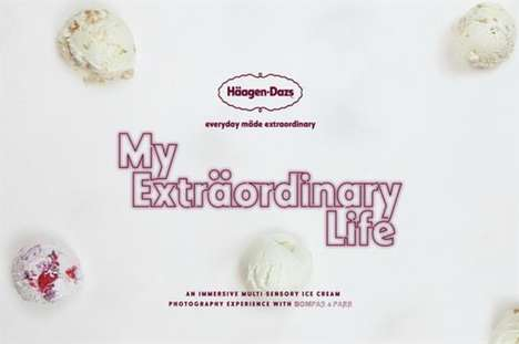 Ice Cream Photography Pop-Ups - Haagen-Dazs' 'My Extraordinary Life' Calls for Dessert Photo-Takers