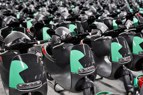 Electric Scooter-Sharing Services - Gogoro is Expanding Its Fleet with 600 EV Smartscooters in Paris