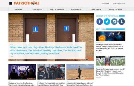 Parodic Right-Wing Websites - 'PatriotHole' is the Newest Website from The Onion