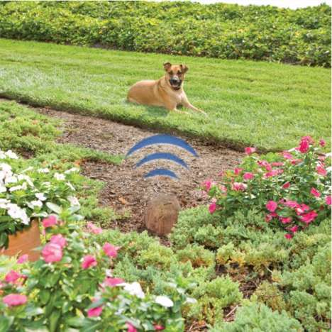 Electronic Outdoor Pet Barriers - The Pawz Away Outdoor Pet Barrier Protects Backyard Gardens