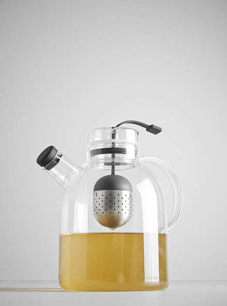 Futuristic Tea Kettle Designs - Norm Architects Designed This Gorgeous Tea Kettle Made of Glass