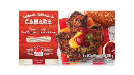 Celebratory Maple Leaf Burgers - These Burgers By Compliments Celebrate Canada's 150th Birthday