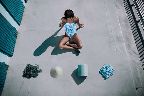 Upcycled Designer Swimwear - adidas and Aquafil Have Teamed Up to Design Sustainable Swimwear