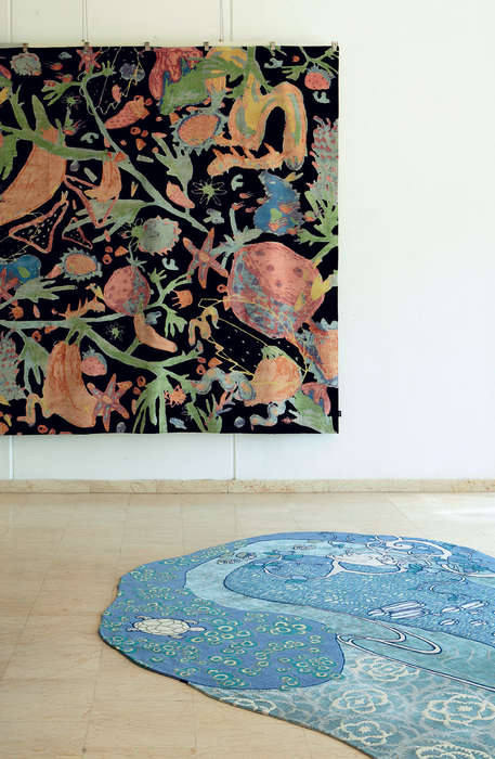 Artist-Crafted Rugs - 'Woven Forms' is a Design Collaboration Using Carpets as an Artistic Medium