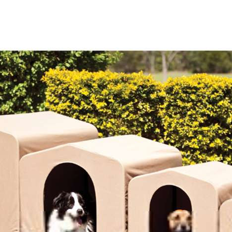 Travel-Friendly Canopy Pet Beds - The PortablePet HoundHouse is Lightweight, Durable and Convenient