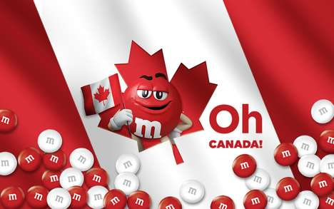 Flag-Inspired Candy Collections - The New 'Oh Canada' M&M's Include Red and White Candies