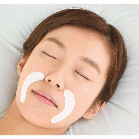 Line-Softening Face Strips - Bihari Oyasumi Smile Line Beauty Sheets Stop Wrinkles from Deepening