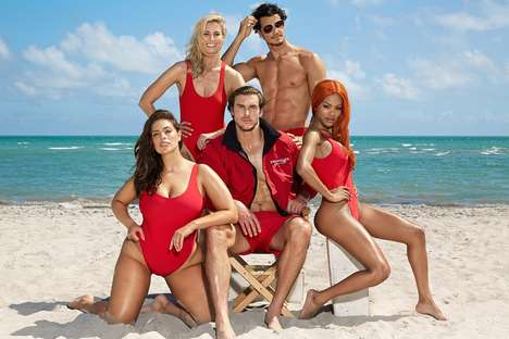 Inclusive TV-Inspired Swimsuits - 'Swimsuits for All' Features One-Piece Styles in Sizes Up to 22