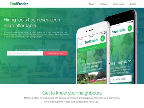 Tool-Sharing Platforms - 'ToolFinder' Lets You Borrow Tools from Neighbors at a Low Cost
