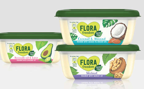 Plant Oil Food Spreads - The Flora Freedom Spreads Now Includes Three New Flavors