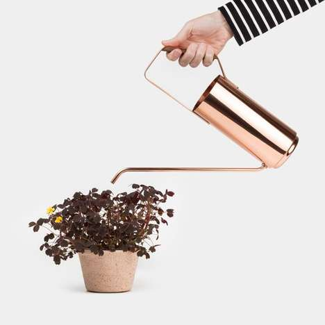 Elegant Copper Watering Cans - The Kaenjusai Watering Can is Both Practical and Visually Pleasing