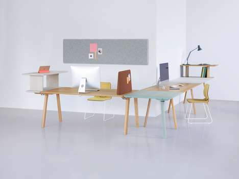 Modular Office Furniture - The 'Rail' Collection Offers Adjustable Furniture for a Modern Office