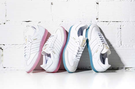 Street-Style Soccer Cleats - The New adidas Samba W White Ice is an Updated Ladies Sports Shoe