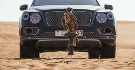 Falconry-Focused Luxury Vehicles - This Bentley for Falconry is Customized for a Niche Hobby