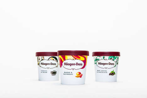 Youthful Ice Cream Rebrands - Häagen-Dazs is Introducing a New, Millennial-Targeted Look