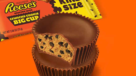 Cookie-Filled Chocolate Cups - Reese's New Crunchy Cookie Cups are Filled with Cookie Dough