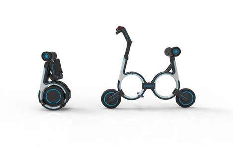 Portable Folding E-Bikes - The Smacircle S1 Can Be Compacted to Fit Into a Backpack