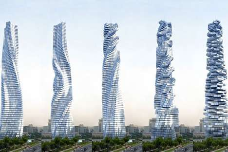 Rotating Skyscraper Concepts - The Dynamic Tower is a Rotating Skyscraper Set to be Built by 2020
