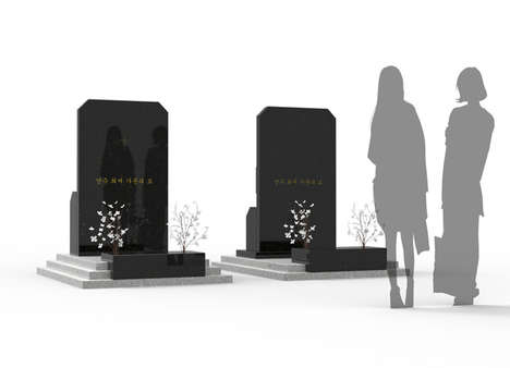 Space-Saving Gravesites - This Modern Tombstone Efficiently Encases an Entire Family's Remains